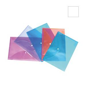 Bantex A4 Snap Wallet - Pack of 5 Clear