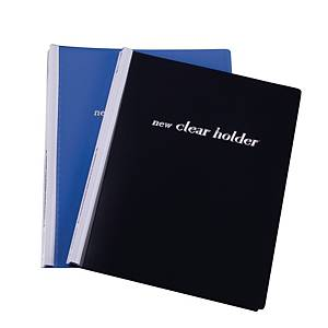 Refillable PP A4  Clear Holder Blue
