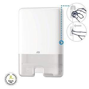 Dispenser Tork H2 Interfold Xpress system, för pappershanddukar, vit