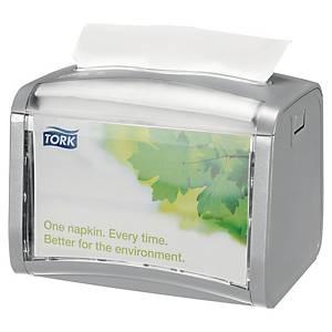 Distributeur de serviettes Tork Xpressnap®, modèle de table, gris, la pièce