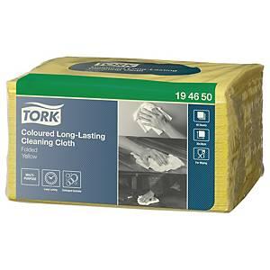 Tork Premium poetsdoeken, 30 x 38 cm, geel, pak van 40 doeken