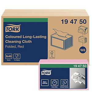 TORK COLOUR CODED CLOTHS PINK - BOX OF 40