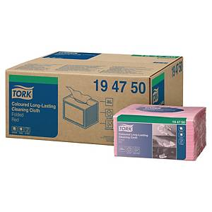 Panno Tork premium in tessuto non tessuto rosso - conf. 40