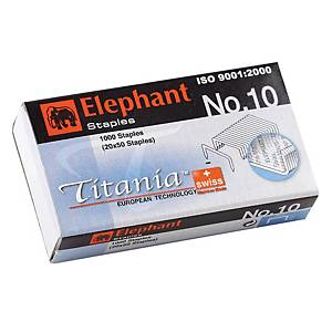 ELEPHANT TITANIA 10-1M STAPLES - BOX OF 1000