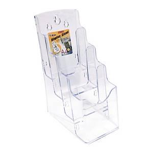 GODEX 4 Compartment Literature Holder 1/3 A4