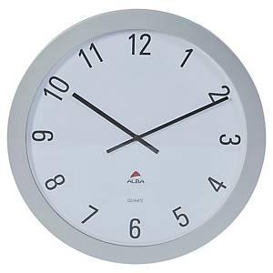 Zegar ścienny ALBA Giant, srebrny