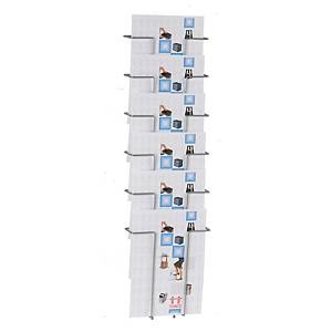 Broschyrställ Twinco, väggmodell, 6 fack, A4-format