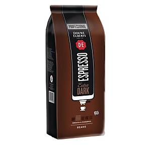 Grains de café Douwe Egberts Extra Dark Roast Espresso, le paquet de 1 kg