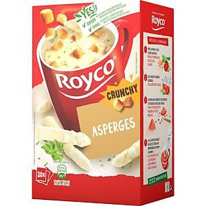 Royco Crunchy Asperges, la boîte de 20 sachets