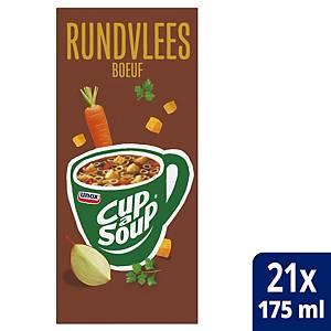 Soupe au boeuf Cup-a-Soup, la boîte de 21 sachets