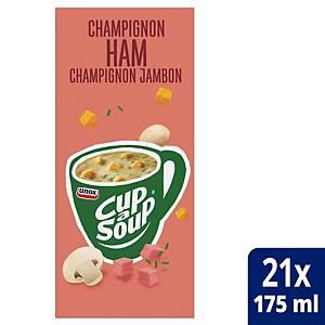Soupe aux champignons et au jambon Cup-a-Soup, la boîte de 21 sachets
