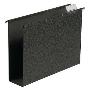 Elba Vertic hangmap voor laden, A4, bodem 80 mm, zwart, per 10 hangmappen