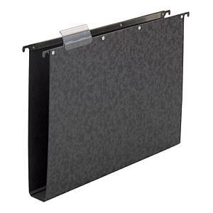Elba Vertic hangmap voor laden, Folio, bodem 40 mm, zwart, per 10 hangmappen