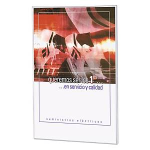 Expositor de parede adesivo Archivo 2000 - A4 - 1 compartimento - transparente