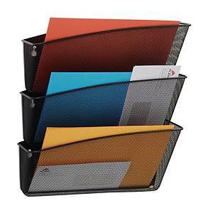 Alba Mesh 3-Pocket Wall File Black