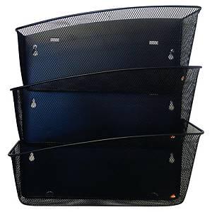 Clasificador mural Alba Mesh - 3 compartimentos - negro