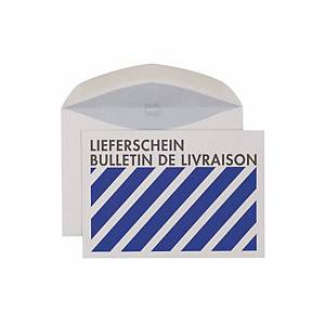 Couvert Elco  Lieferschein , C6, 80 gm2, grau/blau, Packung à 500 Stück