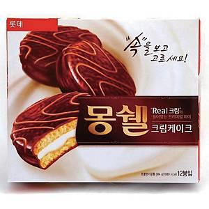 롯데 몽쉘 크림 케이크 12입 384g