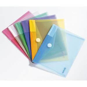 Pack de 6 bolsas de plástico Tarifold - A5 - PP - sortido