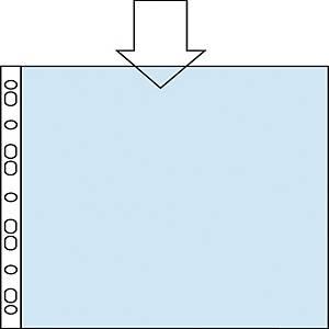 Pack de 100 micas multifuro Esselte - fólio - PP vidro - 80 μ