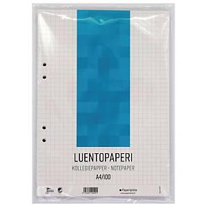 Luentopaperi A4 rei itys 8-12 ruudut 7x7mm, 1 kpl=100 arkkia