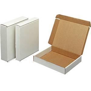 Postituskotelo kansiolle 323 x 298 x 83mm valkoinen, 1 kpl=50 koteloa