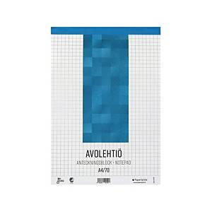 Paperipiste avolehtiö A4/70 ruudutettu 7x7mm perforoitu, 1 kpl=10 lehtiötä