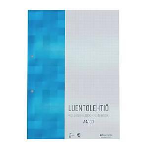 Paperipiste luentolehtiö A4/100, 1 kpl= 5 lehtiötä