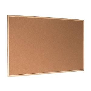 Korková tabule s dřevěným rámem 100 x 60 cm