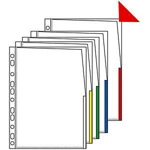 Signaalitasku A4 PP 170micappelsiini  valkoinen, 1 kpl=100 taskua