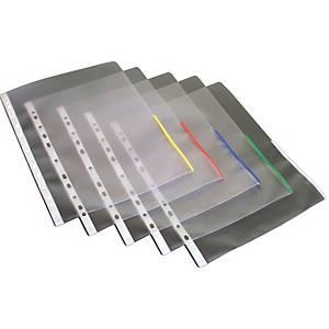 Signaalitasku A4 PP 170mic appelsiini punainen, 1 kpl=100 taskua