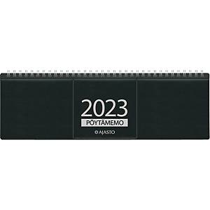 Ajasto Pöytämemo pöytäkalenteri 2021 305 x 90 mm musta