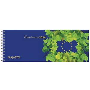 Ajasto Euro Memo pöytäkalenteri 2021 255 x 95 mm