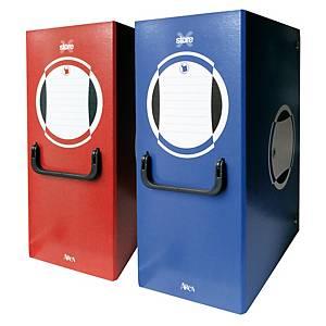 Cartella portaprogetti con maniglia Arca X-Store PPL bottone dorso 20 cm blu