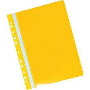 Závesný prezentačný rýchloviazač PVC Herlitz žltý, balenie 20 kusov