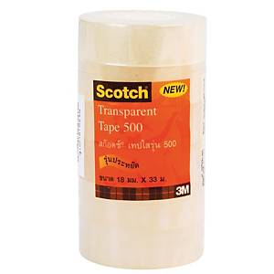 SCOTCH 500 Clear Tape 3/4   X 36 Yards 1   Core- Pack Of 6