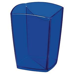 Pot à crayons Cep Pro Happy avec 2 compartiments, bleu transparent