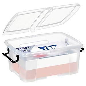 boîte de rangement Cep Strata, capacité de 12 litres, avec couvercle, transp.