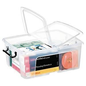 Aufbewahrungsbox Strata HW673, Volumen: 24l, Maße: 395x500x190mm, transparent