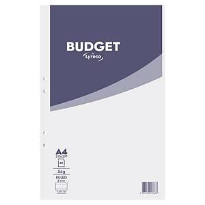 Anteckningsblock Lyreco Budget, A4, linjerat, 80 ark, 56 g