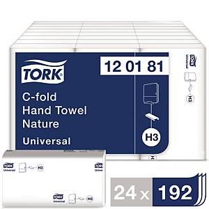 Tork Universal C-gevouwen handdoek, 1-laags, 24 x 192 handdoeken