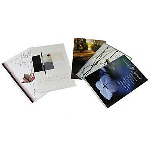 Cartes de condoléances ABC 90992, 117x173 mm, allemand,  5 motifs