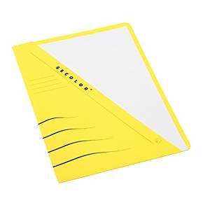 Jalema Secolor chemises à poche carton 270g jaune - paquet de 100