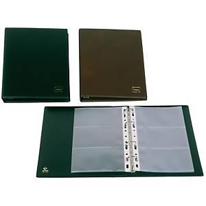 Tarjetero Grafoplás - 187 x 233 mm - 60 tarjetas - negro
