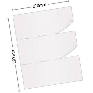 PK100 RECEIPT PUNCHED SHEETS FOLIO