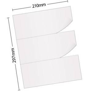 Caixa 2500 folhas de papel de recibos - 3 recibos - A4 - 80 g/m²