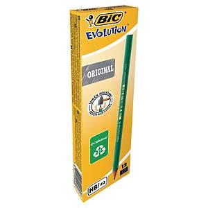 Bleistift BIC Conte Evolution 650, Härtegrad: HB, grün lack. Schaft, 12 Stück