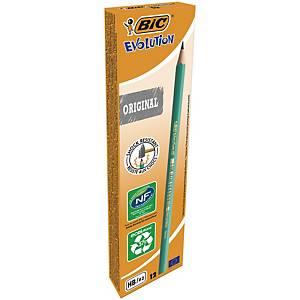 Pack de 12 lápices de grafito Bic Evolution - HB