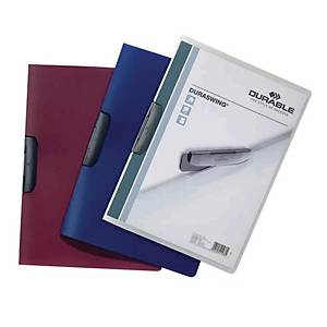 Durable Duraswing A4 Folder Blue - 30 Sheets Capacity