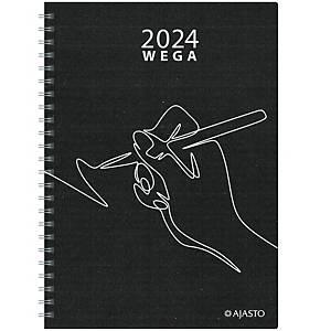 Ajasto Wega Eko pöytäkalenteri 2021 A5 musta